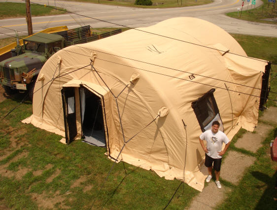Air Compressor Shelter : Air beam hdt global military tent